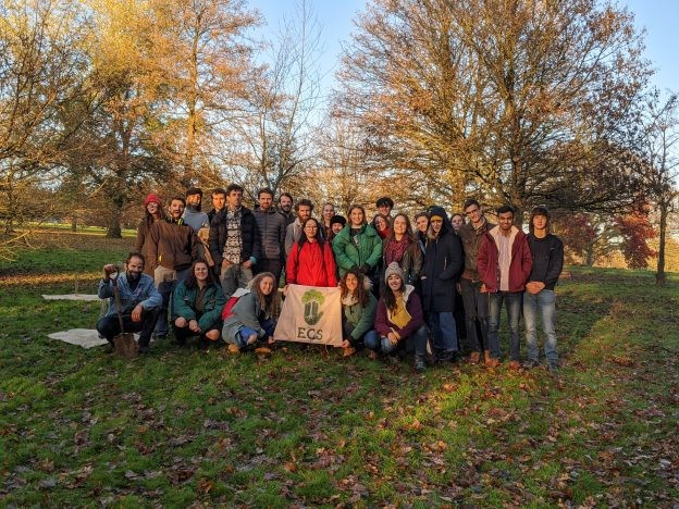 Students lead tree planting event on campus