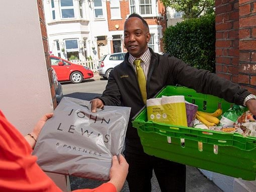 John Lewis shoppers can now return unwanted items through their Waitrose delivery driver