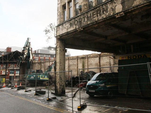 A last look at Newcastle's Worswick Street bus station - it's under demolition