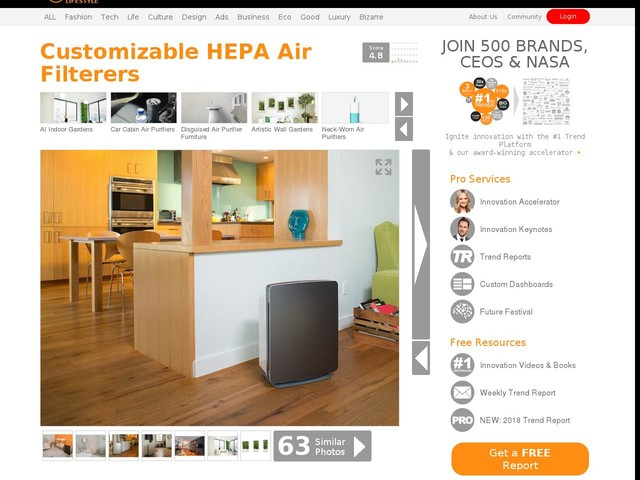 Customizable HEPA Air Filterers - The 'Alen BreatheSmart' Air Purifier Covers 1,100 Square Feet (TrendHunter.com)