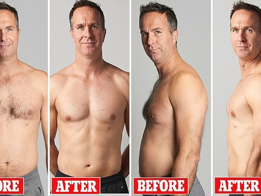 Michael Vaughan shows results of 12-week body challenge