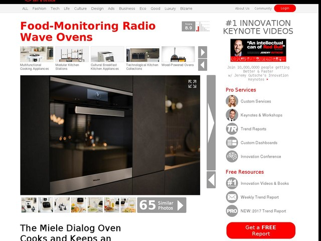 Food-Monitoring Radio Wave Ovens - The Miele Dialog Oven Cooks and Keeps an Eye on Dishes (TrendHunter.com)