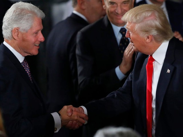 Bill Clinton, the last president to get impeached, told Trump that his best bet is to ignore it and get on with his job