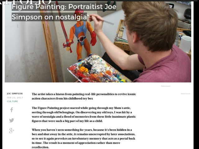 Figure Painting: Portraitist Joe Simpson on nostalgia