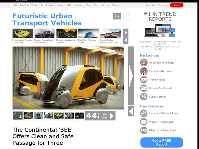 Futuristic Urban Transport Vehicles - The Continental 'BEE' Offers Clean and Safe Passage for Three (TrendHunter.com)