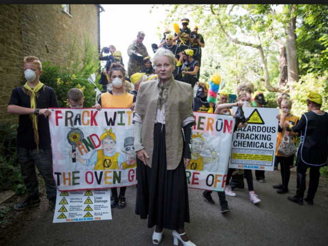 Dame Vivienne Westwood will be near Preston To Break Dance Moves On Cuadrilla's 'Draconian Injunction Line' To Abba's 'Dancing Queen' at 12:00pm on Tuesday 16th October 2018