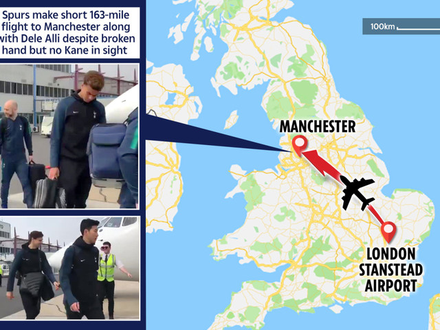 Spurs make short 163-mile flight to Manchester along with Dele Alli despite broken hand but no Kane in sight