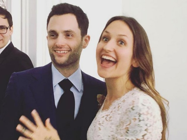 Penn Badgley and Domino Kirke Get Married Again in Second Ceremony: Photos