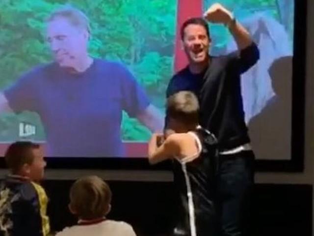 Jamie Redknapp's amazing reaction to dad Harry's I'm a Celeb win