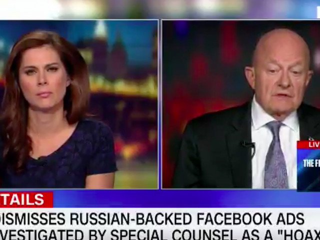 JAMES CLAPPER: US intelligence assessment of Russia's election interference 'cast doubt on the legitimacy' of Trump's victory