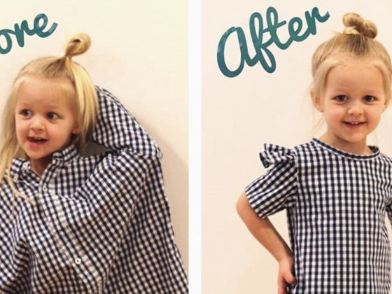Mom's Ingenious Use Of Her Husband's Old Shirts Makes Her Daughter Look So Stylish