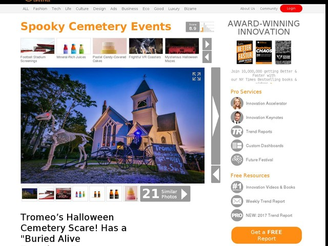 "Spooky Cemetery Events - Tromeo's Halloween Cemetery Scare! Has a ""Buried Alive Experience"" (TrendHunter.com)"