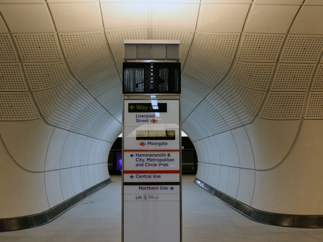 Behind the scenes at Crossrail's Liverpool Street station