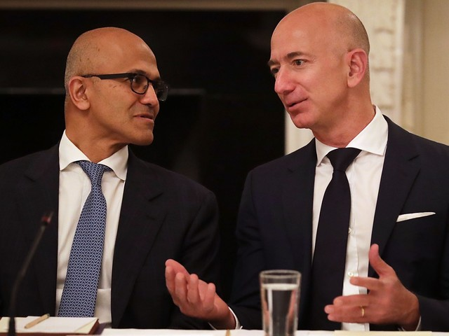 CEO Satya Nadella says that Microsoft is embracing Amazon's Alexa instead of fighting it — and he wants to be friends with Google, too (MSFT)