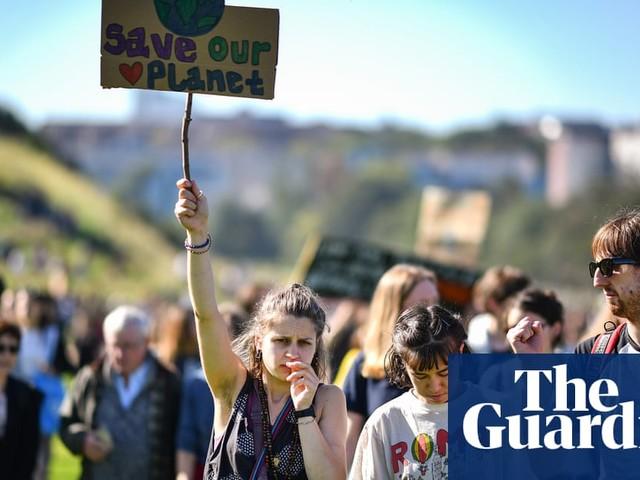 'Enough is enough': biggest-ever climate protest sweeps UK