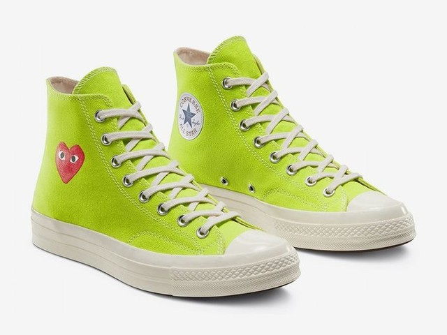 Vibrant Springtime Collaboration Shoes - The COMME des GARÇONS PLAY x Converse Chuck 70 is Playful (TrendHunter.com)