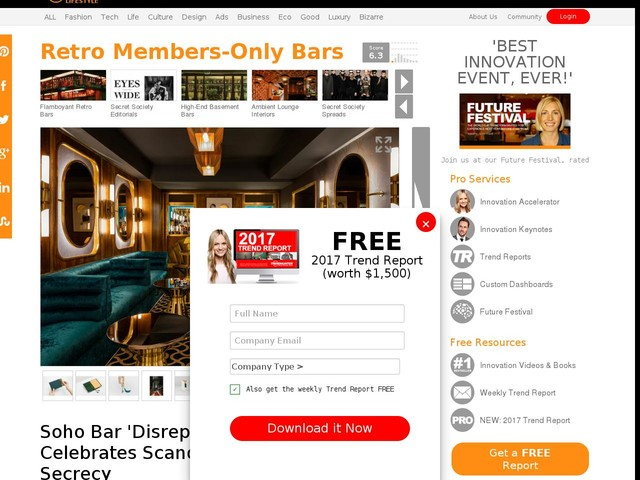 Retro Members-Only Bars - Soho Bar 'Disrepute' Celebrates Scandal and Secrecy (TrendHunter.com)