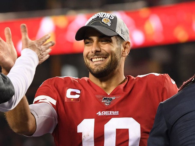 Jimmy Garoppolo can still throw when the 49ers need him to