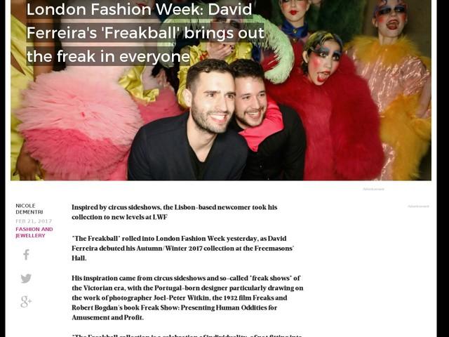 London Fashion Week: David Ferreira's 'Freakball' brings out the freak in everyone
