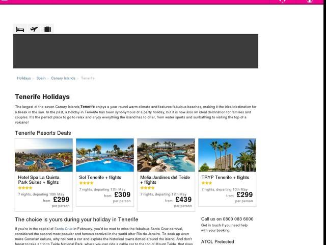 Tenerife Holidays 2017 | Cheap Tenerife Deals | lastminute.com