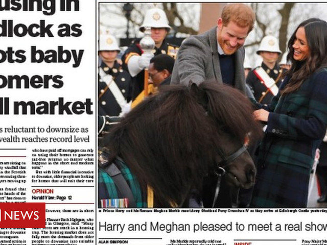 The Papers: A Royal touch of tartan from Meghan
