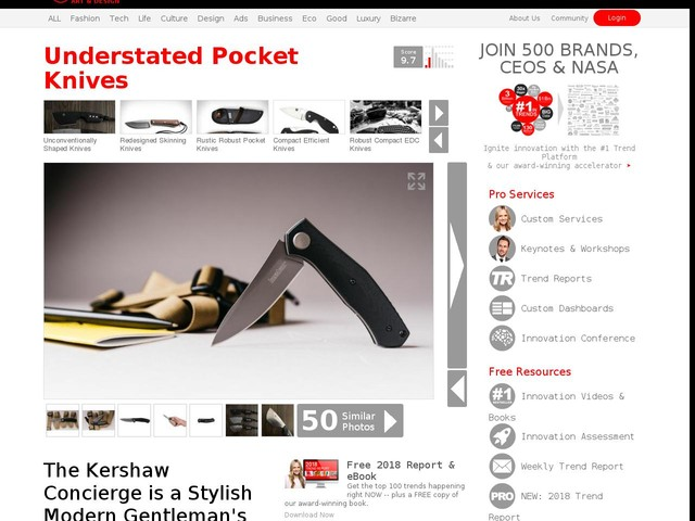 Understated Pocket Knives - The Kershaw Concierge is a Stylish Modern Gentleman's Knife (TrendHunter.com)