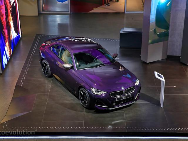 Live Pics: 2022 BMW M240i Goes Plum Crazy at IAA 2021