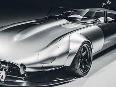 "Jaguar E-Type ""Rude Cat"" Looks Like a Land Rocket"