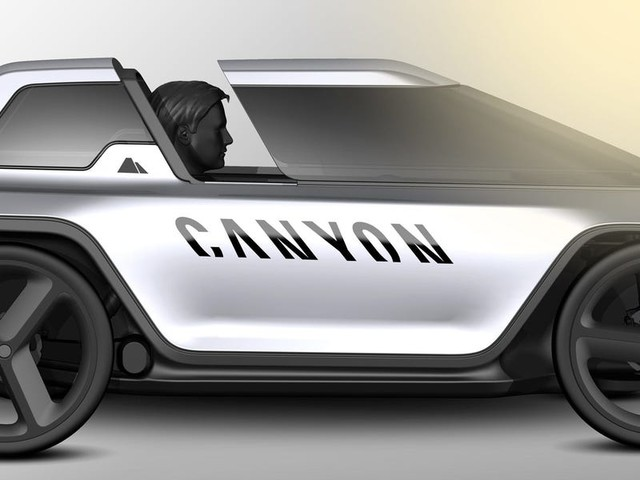 A bicycle maker created an electric 4-wheeled vehicle that bridges the gap between cars and e-bikes — see Canyon's 'Future Mobility Concept'