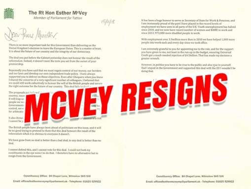 McVey Resigns