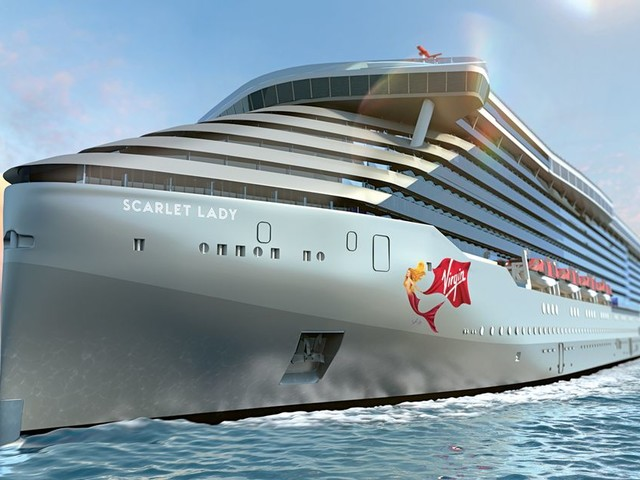 Virgin's new cruise ship Scarlet lady is now afloat and we've got a sneak peek