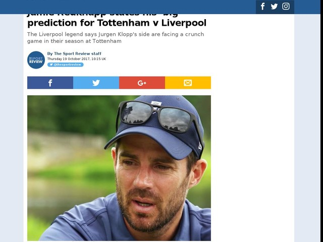 Jamie Redknapp states his 'big' prediction for Tottenham v Liverpool