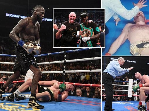 Tyson Fury and Deontay Wilder finishes in split decision as Bronze Bomber retains WBC crown