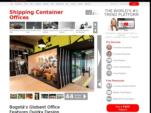 Shipping Container Offices - Bogotá's Globant Office Features Quirky Design Elements (TrendHunter.com)