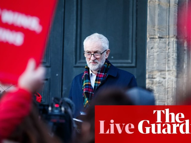 General election: Corbyn talks free broadband as Johnson launches campaign bus – live news