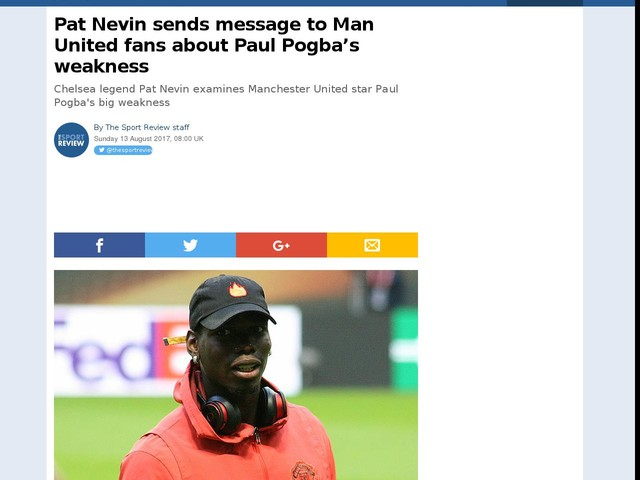 Pat Nevin sends message to Man United fans about Paul Pogba's weakness