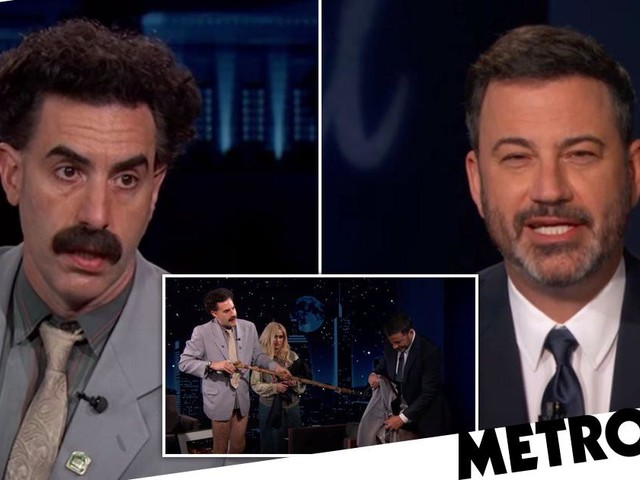 Borat's interview with Jimmy Kimmel went south very quickly after he sprays audience with disinfectant to get rid of Covid