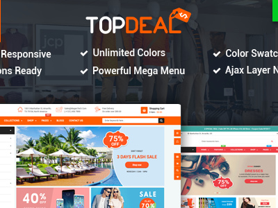 TopDeal - Multipurpose Shopify Theme with Sectioned Drag & Drop Builder (Shopify)