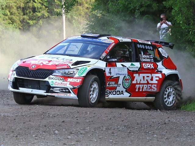 Team MRF Tyres wins Round 4 of 2021 Finnish Rally Championship