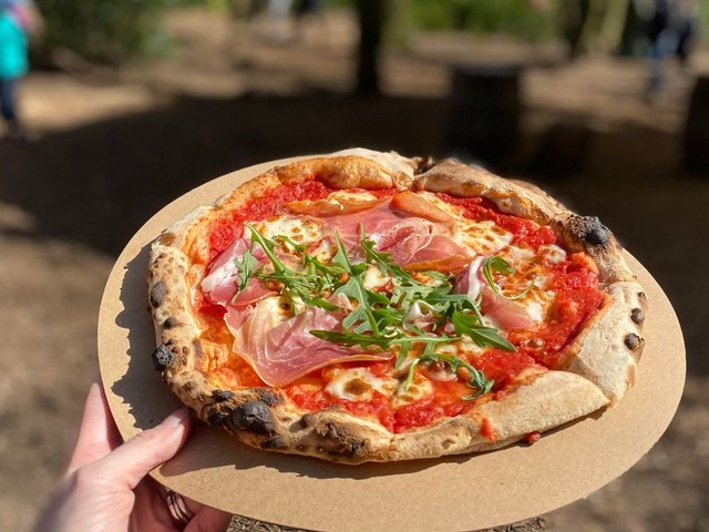 The hidden woodland pizza and coffee den you walk miles to find