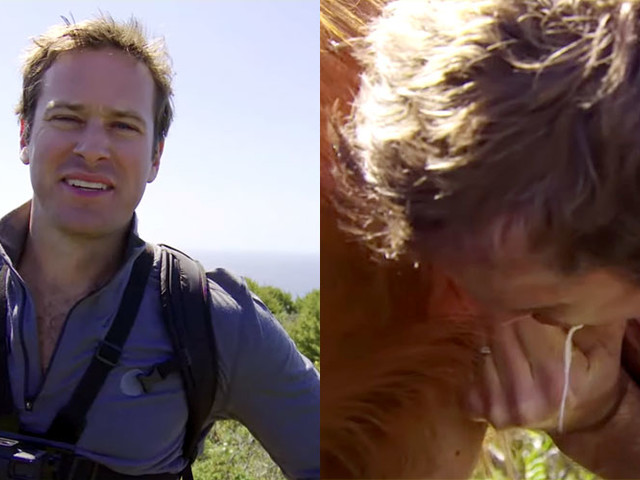 Watch Armie Hammer Drink Milk Directly from a Goat (Video)