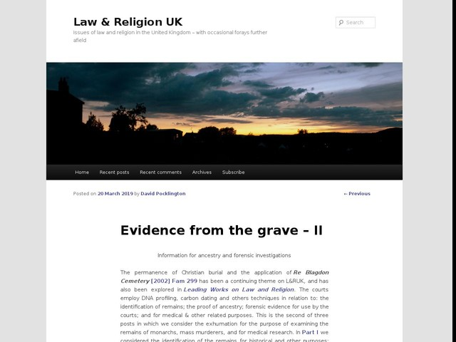 Evidence from the grave – II