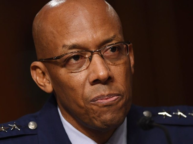 US Air Force Gen. Charles Brown makes history by becoming the first black officer to lead a military branch