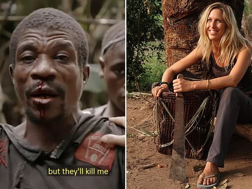 Moment British documentary maker is caught up in a violent clash between rival tribes in the Congo