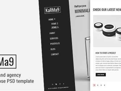Karma9 - Portfolio and Agency Multipurpose PSD Template (Portfolio)