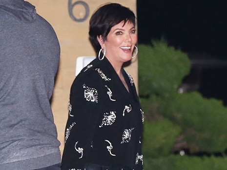 Kris Jenner, 65, Is All Smiles In Leather Pants & Sheer Shirt For Date Night With Corey Gamble