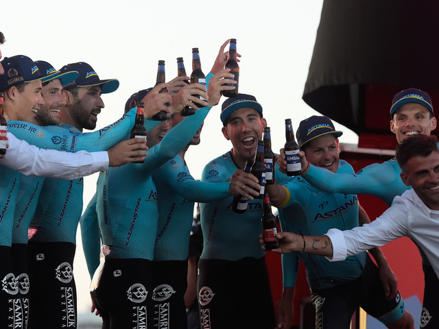 Astana win team time trial to give Lopez lead at Vuelta a España