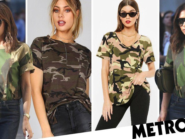 Victoria Beckham's camoflouge t-shirt is all the rage – here's where you can get yours