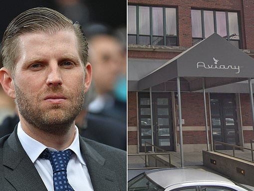 Cocktail lounge employee who 'SPAT on Eric Trump' is placed on leave
