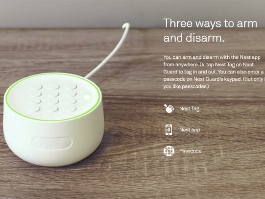 Nest Secure alarm protects homes and needs no passcode